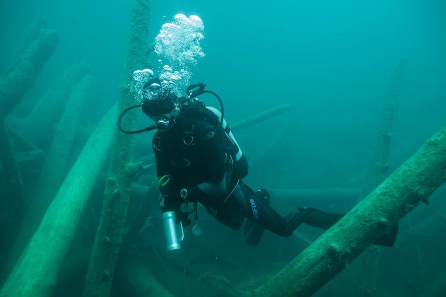 Unter Wasser: Faszinierende Welt im Blindsee. Da könnte man die Zeit fast vergessen.