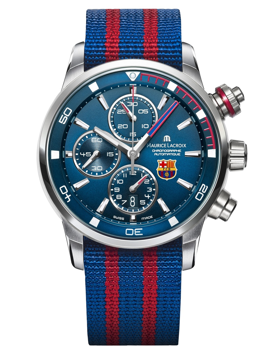 Das Textilband der FC Barcelona Pontos S ist im Lieferumfang enthalten.