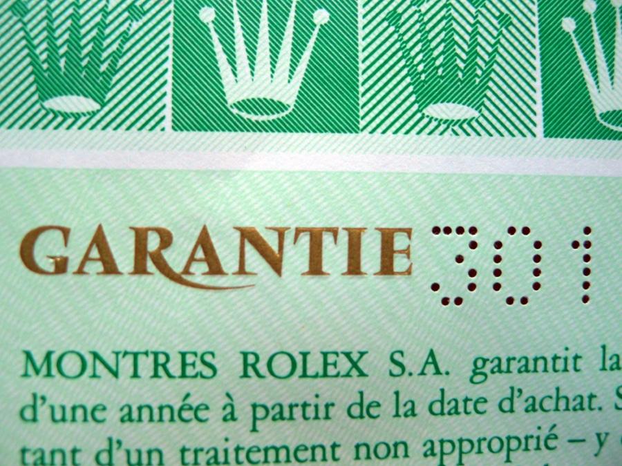 Rolex-Garantie mit dem DDR-Ländercode 301