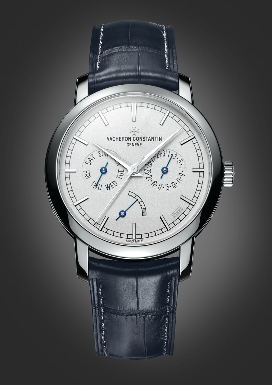 Vacheron Constantin: Patrimony Traditionnelle Day-Date mit Gangreserve Collection Excellence Platin