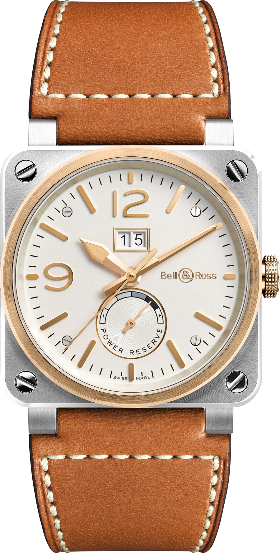 Bell & Ross: BR 03-90 Steel & Rose Gold