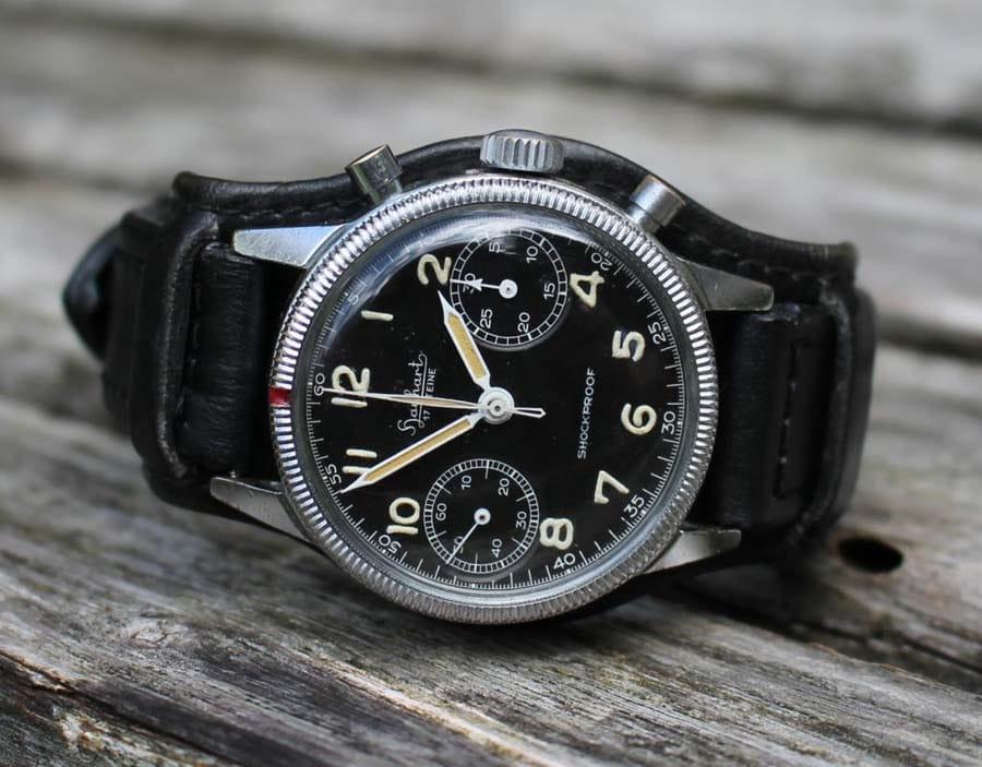 Der Bundeswehrchronograph von Hanhart.</br>(Foto: Felix Hallinger)