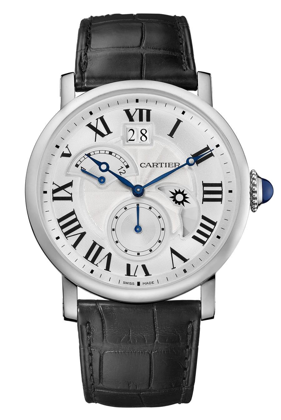 Cartier: Rotonde de Cartier Second Time-Zone in Edelstahl