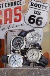 Die Kombination von Tachymeter- und Telemeterskalen verleiht diesen Chronographen einen subtilen Retro-Chic.
