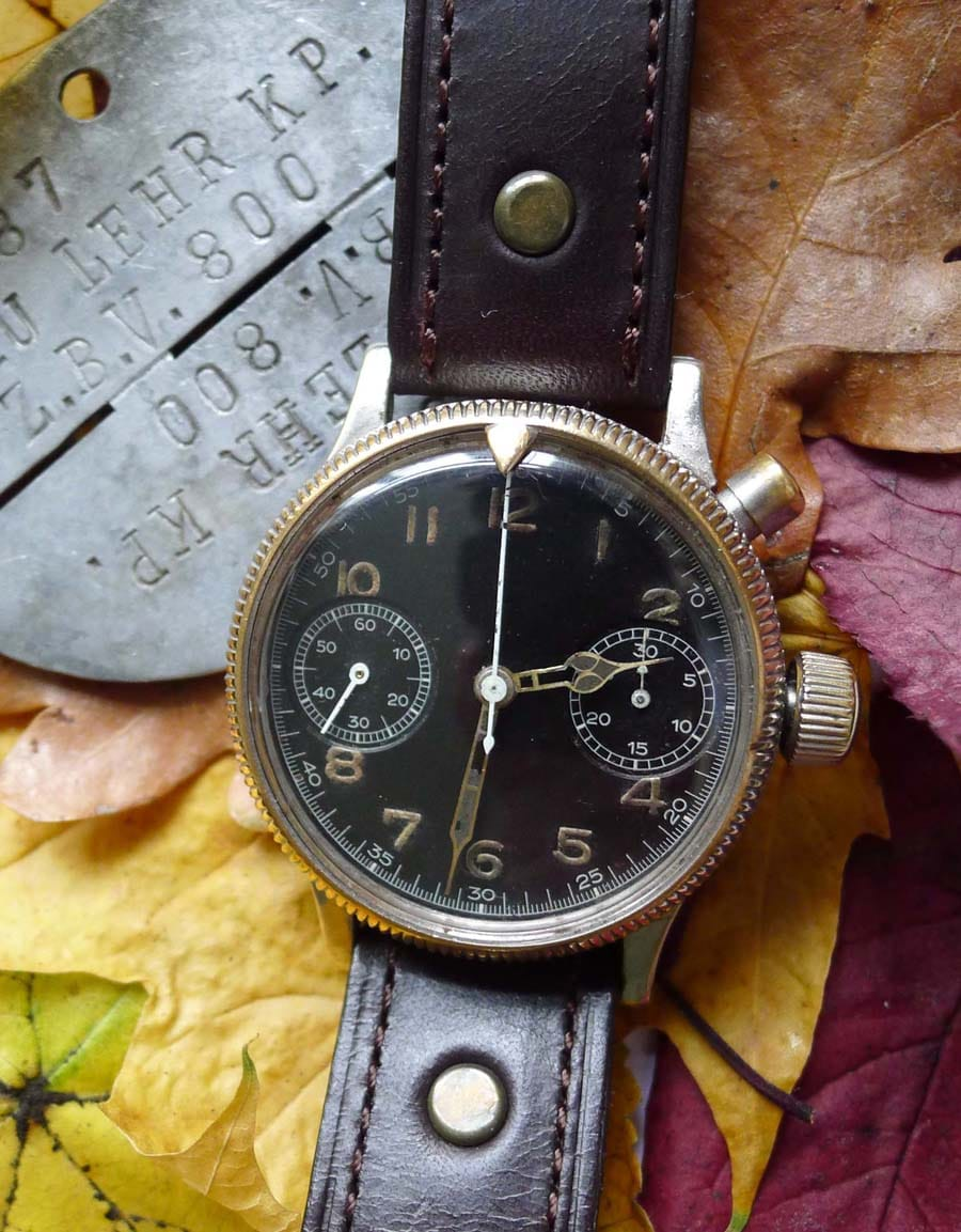 Eindrückerchronograph ohne Schriftzug und mit Pointerlünette</br>(Foto: Walter Castillo)
