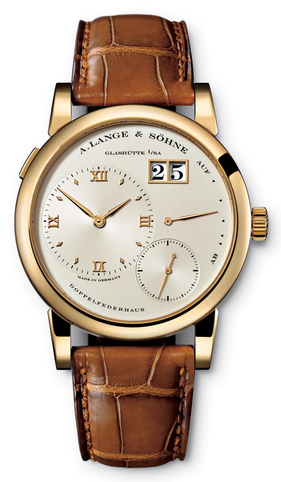 Grund 1: Raffiniertes Design.</br>Die Lange 1 brachte frischen Wind ins 1994 verstaubte Uhrendesign