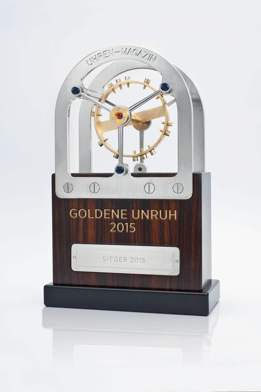 Goldene Unruh 2015 Trophäe