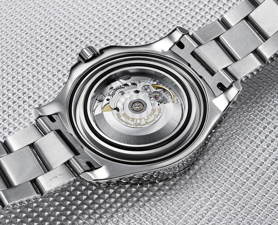 Die Breitling Colt Automatic arbeitet mit dem Chronometer-zetifizierten Eta 2824-2