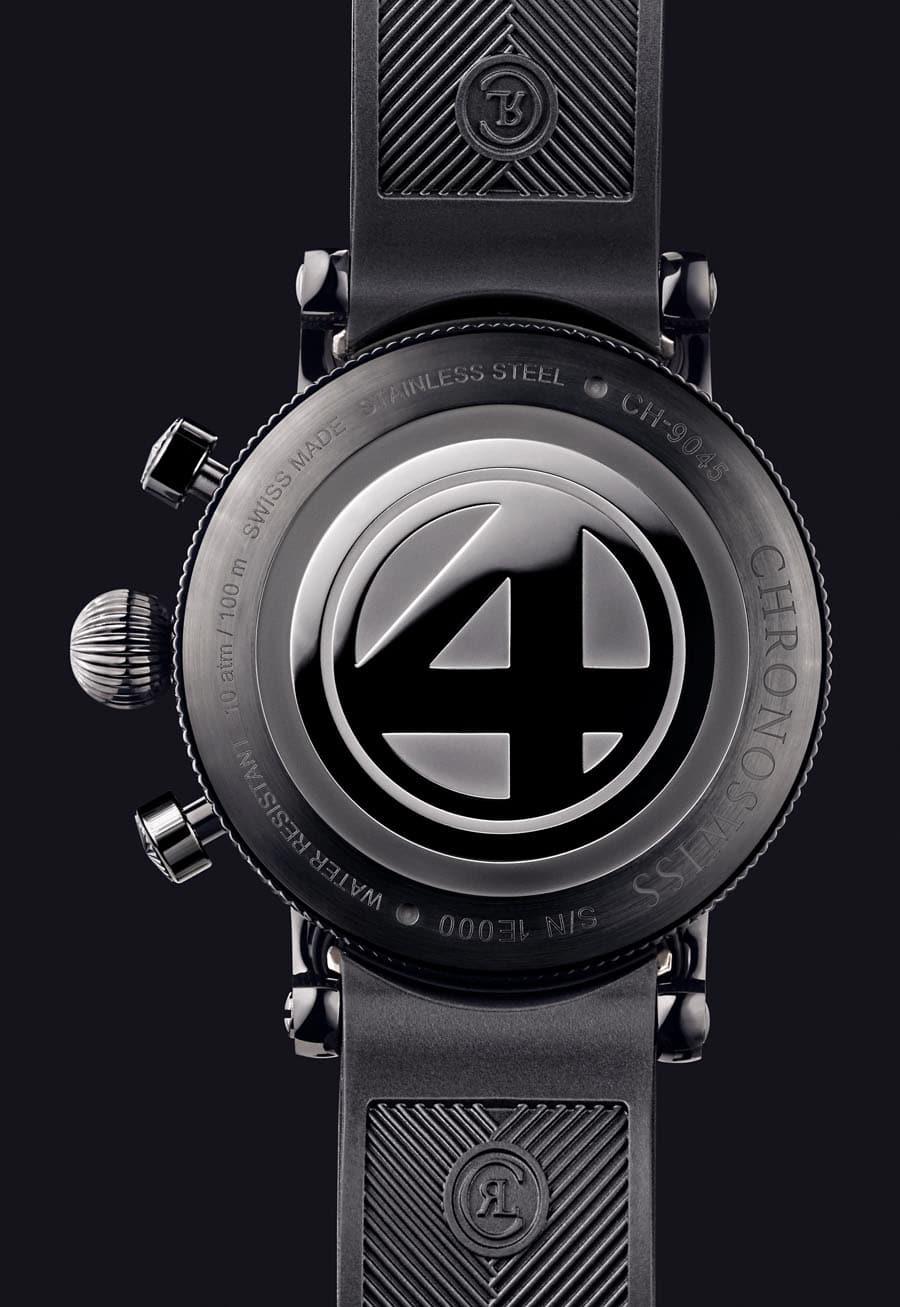 Chronoswiss: Rückseite der Timemaster F4 Limited Edition