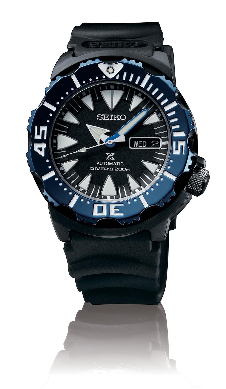 Die neue Seiko Prospex Automatik Diver`s SRP581P1 mit dem Kaliber 4R36  bietet eine Gangreserve von 41 Stunden und einen Sekundenstopp.