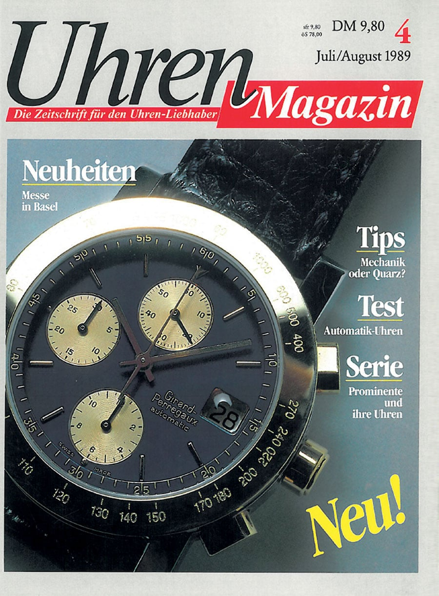 UHREN-MAGAZIN Juli/August 1989