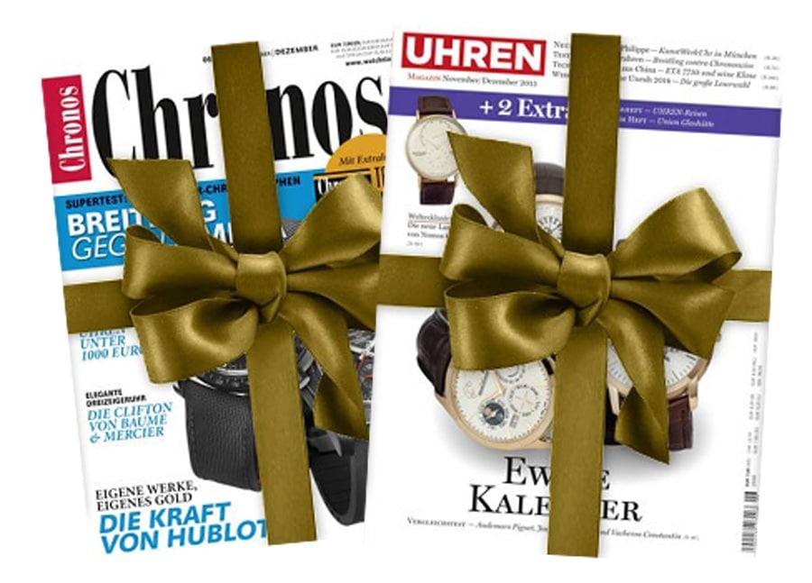 3. Preis: Ein Jahresabonnement Chronos oder Uhren-Magazin