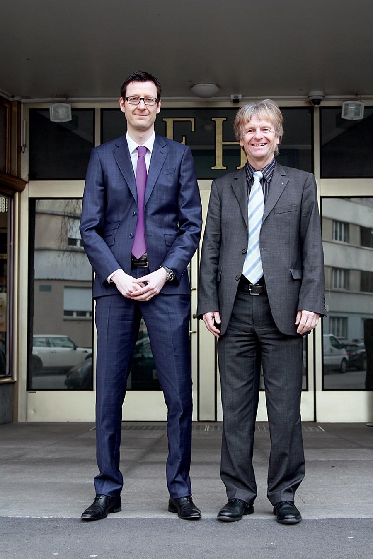 Schweizer Uhrenindustrieverband FH: Justitiar Yves Bugmann und Präsident Jean-Daniel Pasche