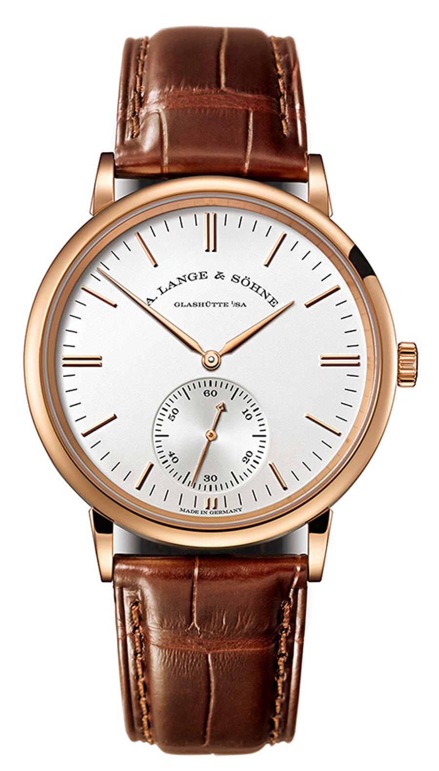 A. Lange & Söhne: Saxiona Automatik in Rotgold