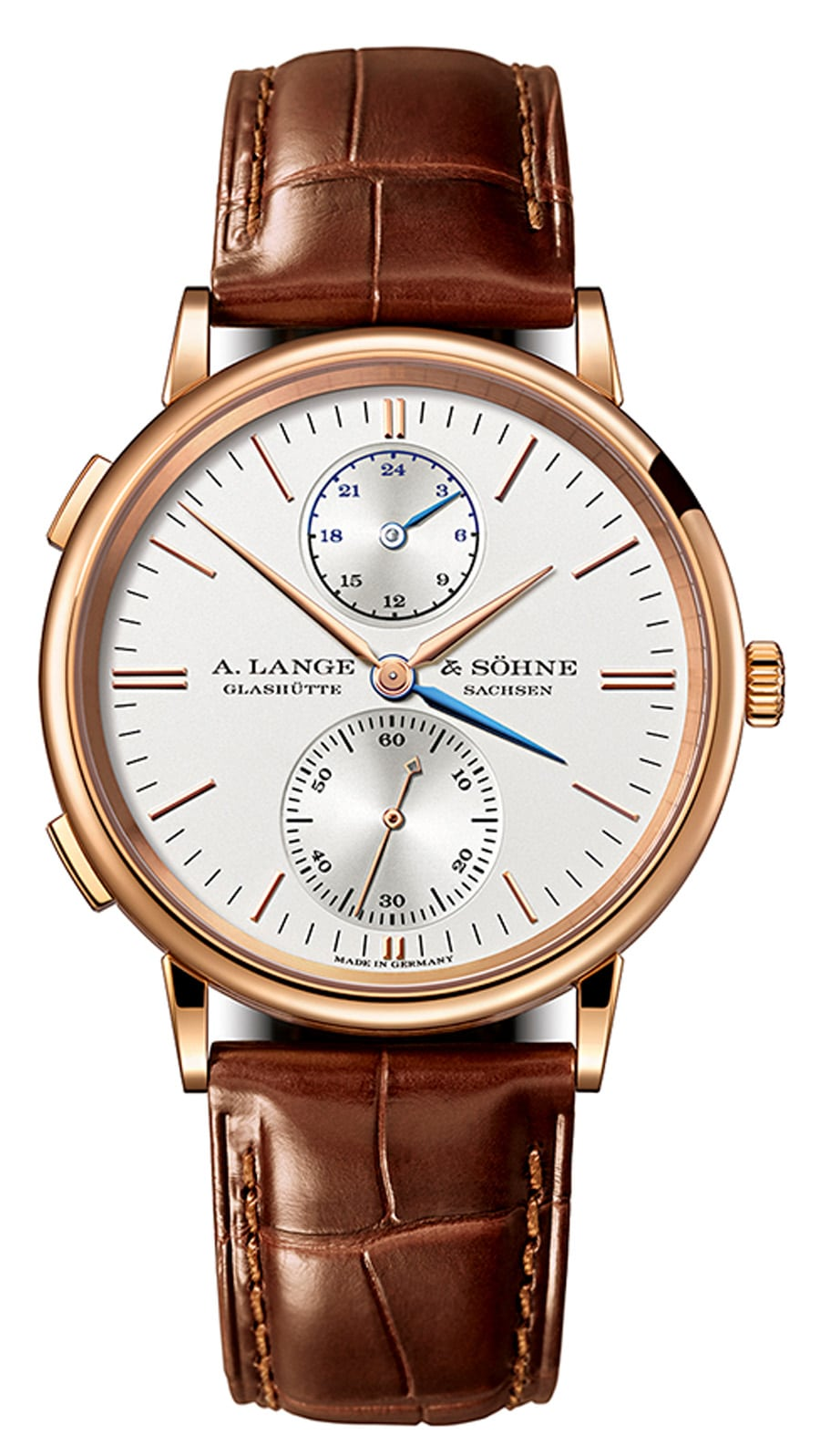 A. Lange & Söhne: Saxonia Dual Time in Rotgold