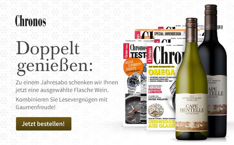Chronos: Jahresabo und ein ausgewählter Wein