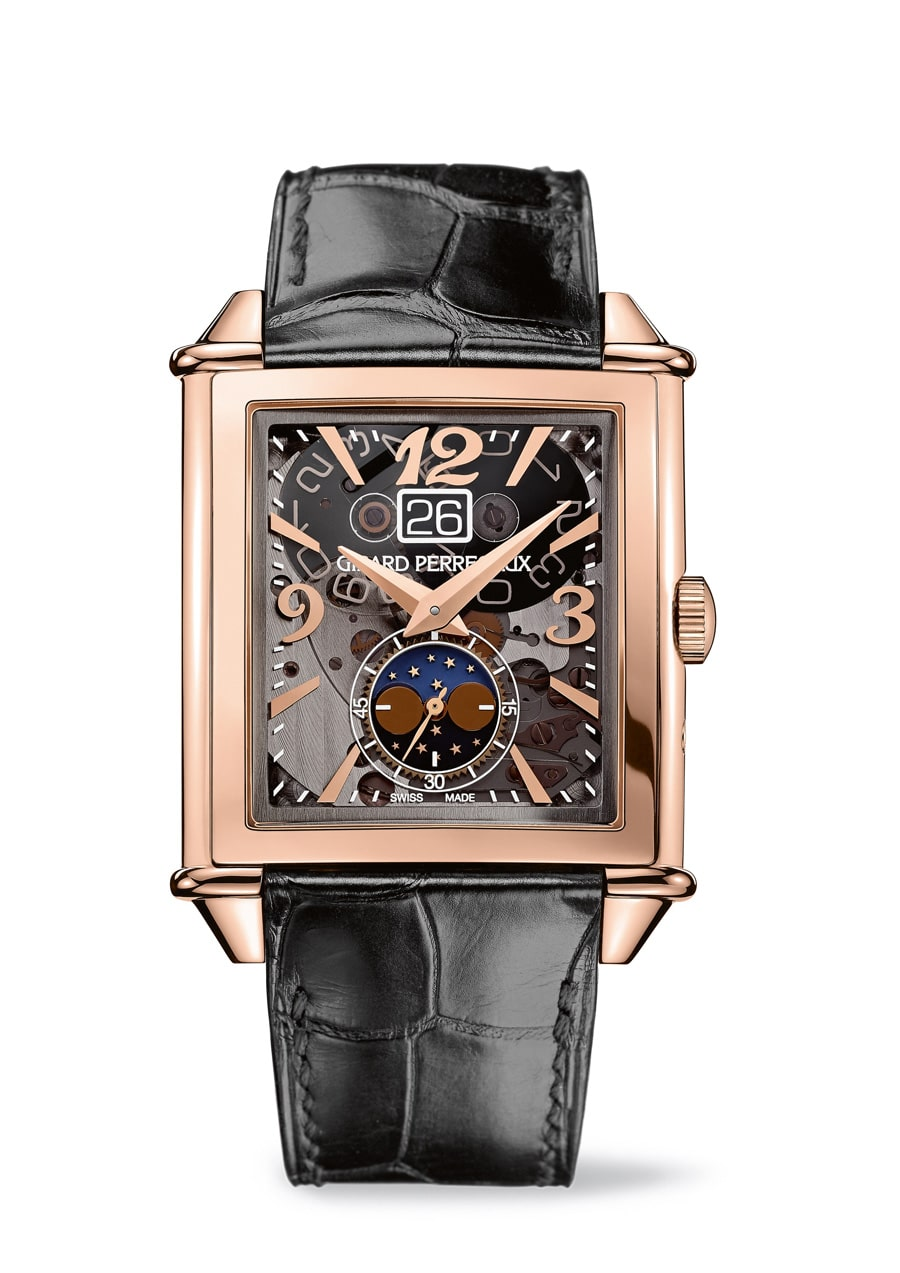 Girard-Perregaux: Vintage 1945 Large Date, Moon Phases in Rotgold