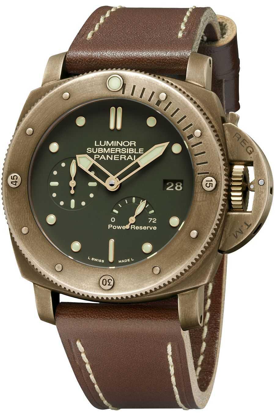 Bronze-Uhr aus dem Hause Panerai: Submersible 1950 3 Days Power Reserve Automatic Bronzo