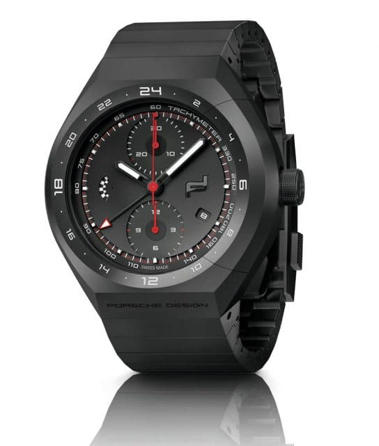 Schwarze Titan-Optik: Porsche Design Monobloc Actuator 24H Chronotimer All Black