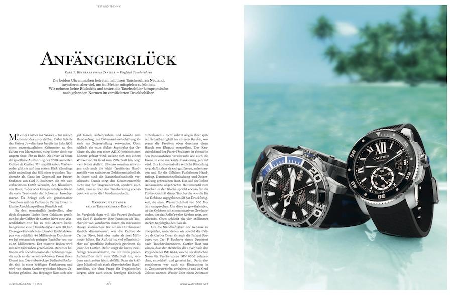 Die Edelsportler von Cartier und Carl F. Bucherer treten im Testlabor zum Vergleich an.
