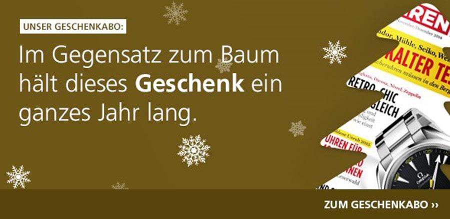 UHREN-MAGAZIN Geschenkabo: Weihnachtsangebot sichern!
