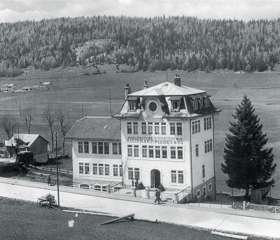 """Audemars Piguet: Das Gebäude """"Manufacture d'Horlogerie"""" auf der Route de France 16 wurde 1907 erbaut."""