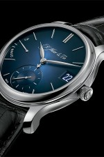 H. Moser & Cie.: Perpetual Calendar, blau