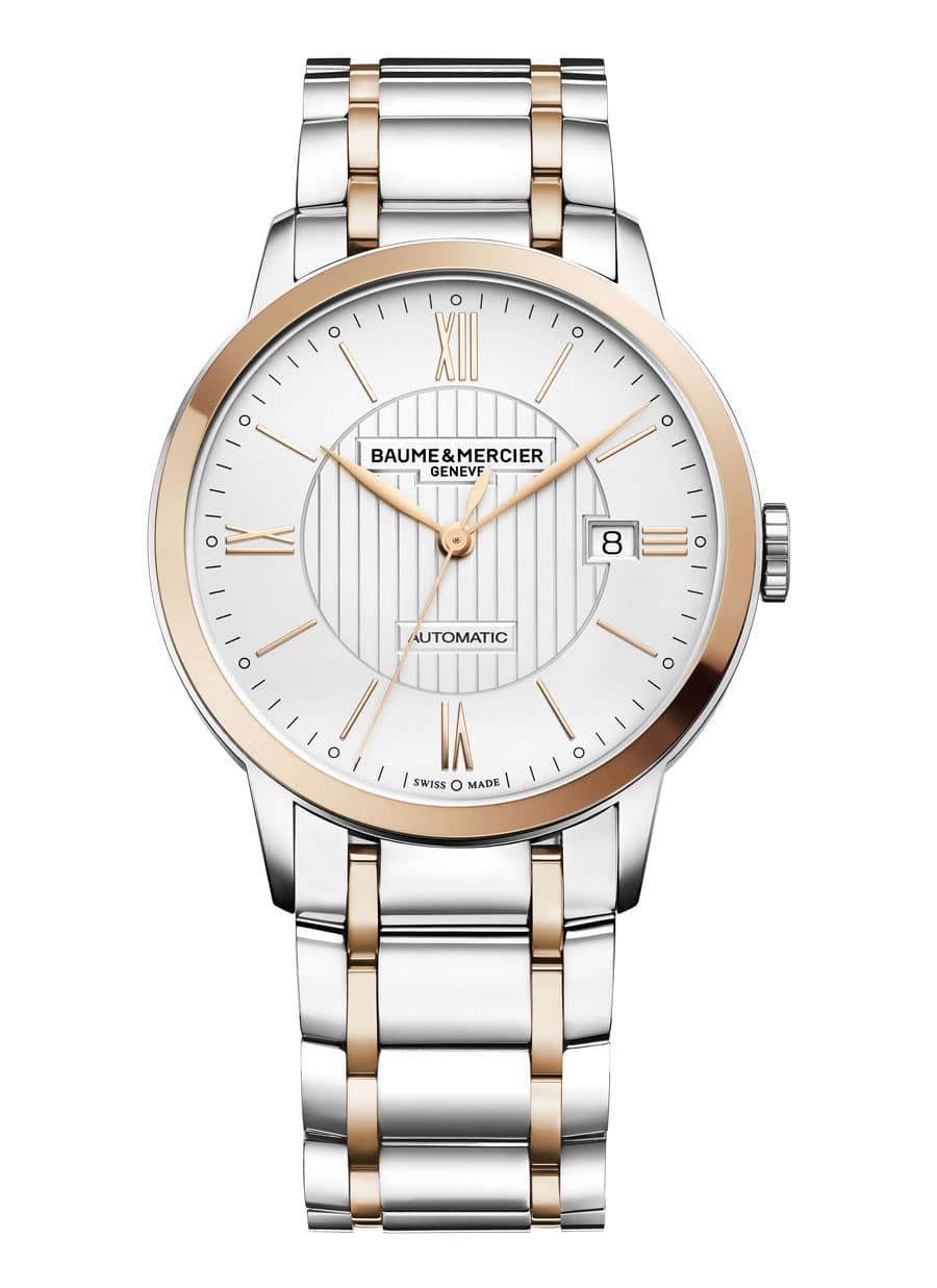 Baume & Mercier: Classima mit Rotgold-Lünette und Bicolor-Armband