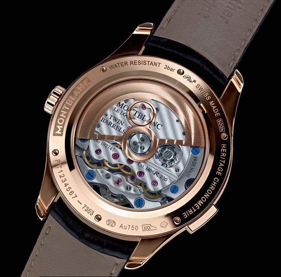 Montblanc: Heritage Chronométrie ExoTourbillon Minute Chronograph, Rückseite