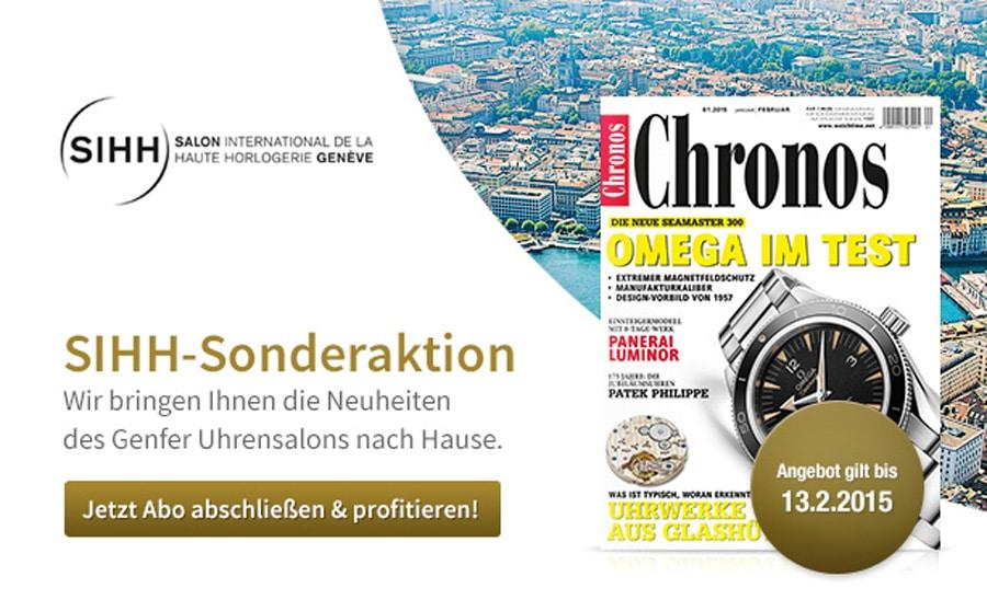 SIHH-Sonderaktion: Chronos-Abonnement zum Vorteilspreis