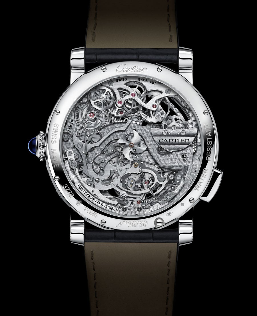 Cartier: Rontonde de Cartier Grande Complication, Manufakturkaliber 9406 MC