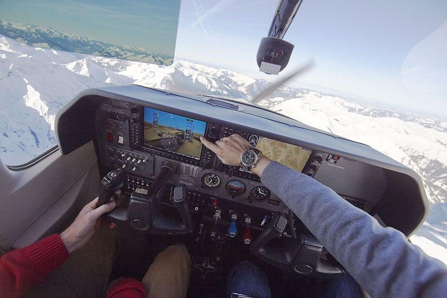 Oris: Big Crown ProPilot Altimeter im Flugzeug