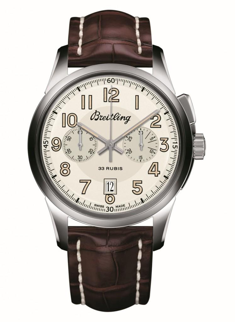 Breitling: Transocean Chronograph 1915 mit Lederband