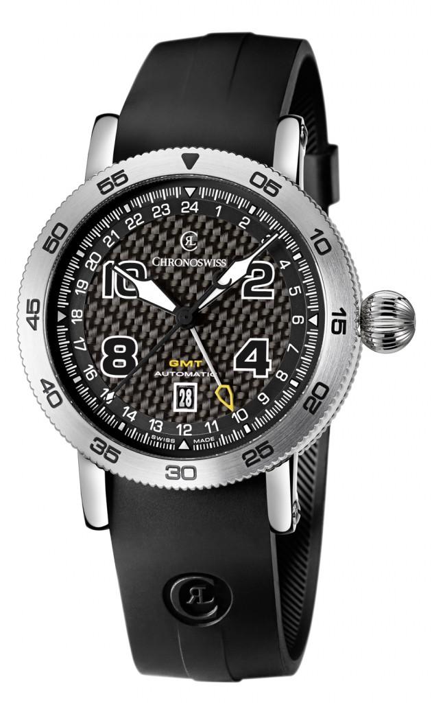 Chronoswiss: Timemaster GMT mit Kautschukband