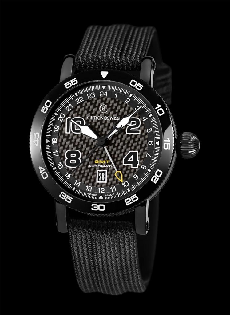Chronoswiss: Timemaster GMT mit schwarzer DLC-Beschichtung