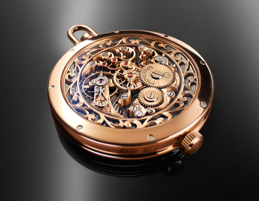 Die Rückseite der Taschenuhr von Erwin Sattler