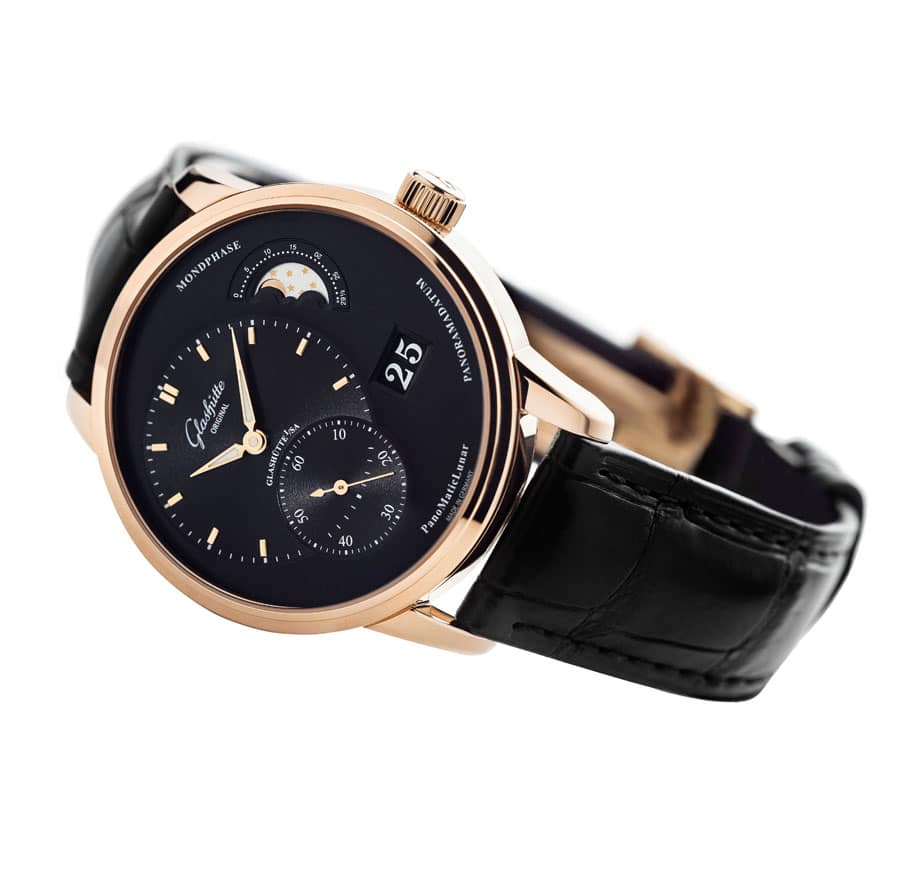 Glashuette Original PanoMaticLunar_Red_Gold_black_dial