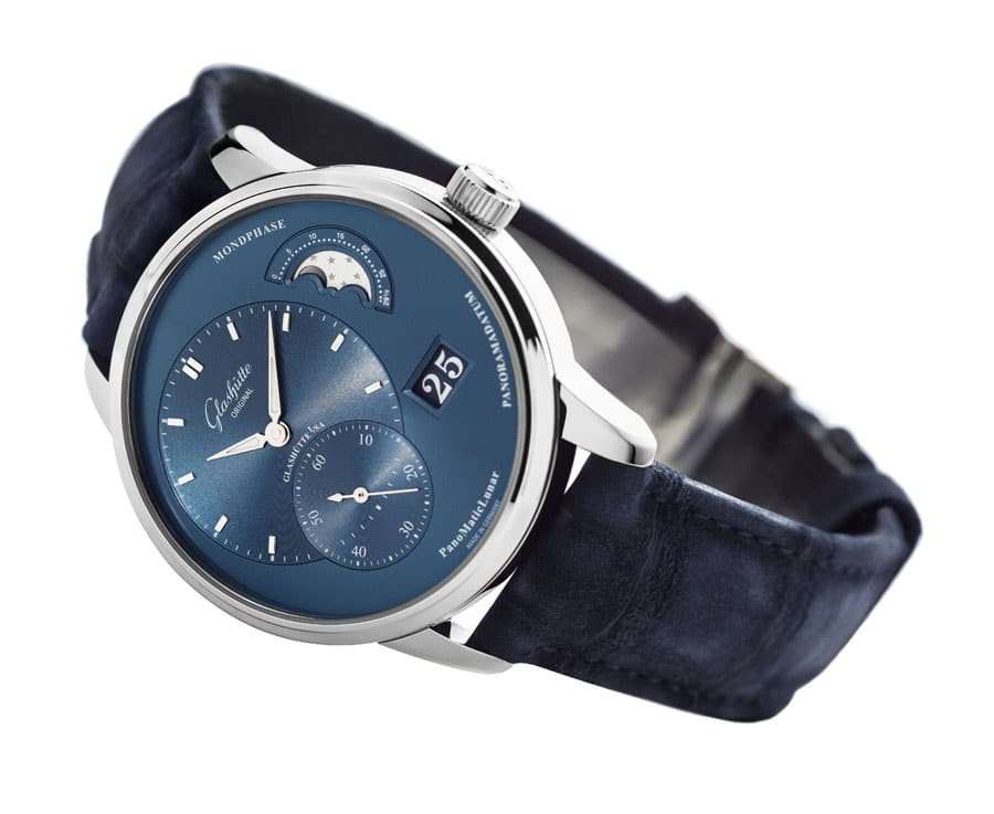 Glashuette Original PanoMaticLunar_Stainless_Steel_blue_dial