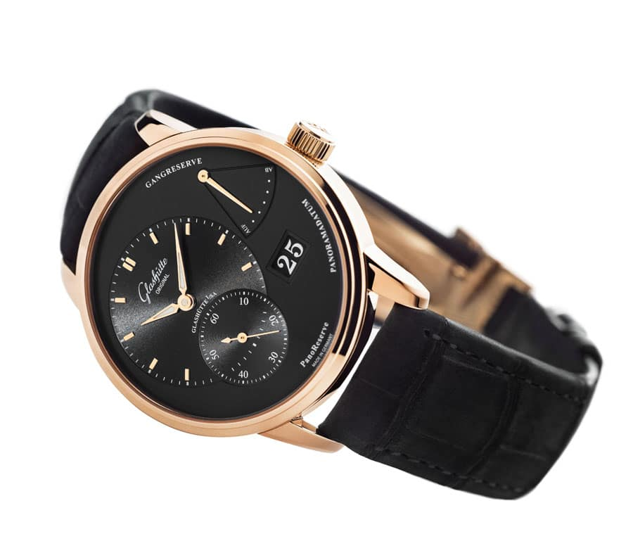Glashuette Original PanoReserve_Red_Gold_black_dial