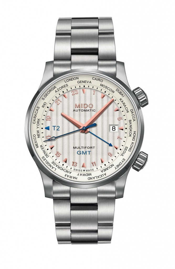 Mido: Multifort GMT, Edelstahl