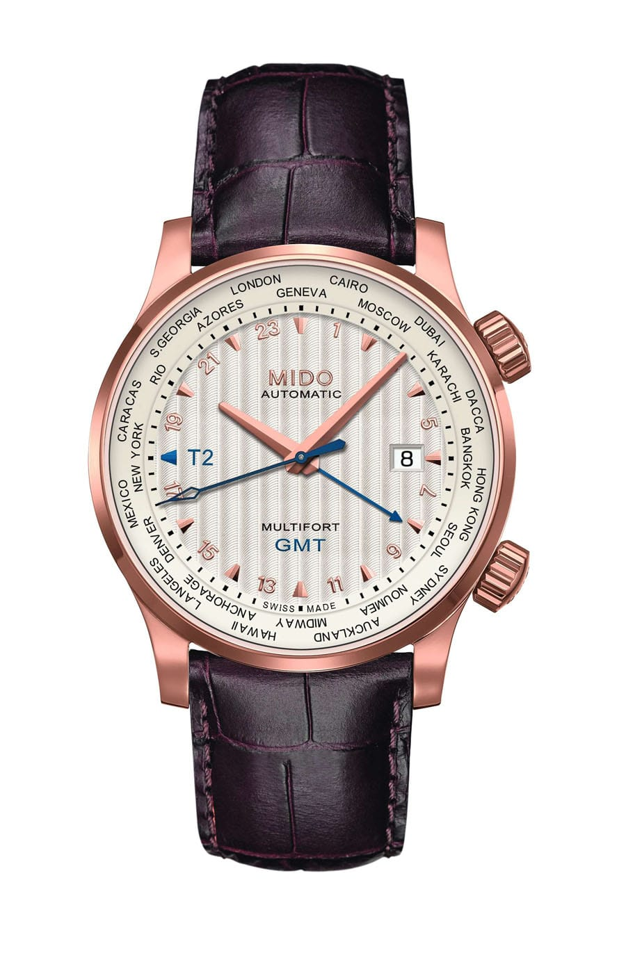 Mido: Multifort GMT, roségold beschichtet