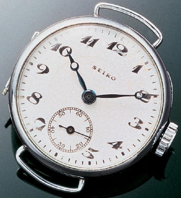 """""""Seiko"""" auf dem Zifferblatt: erstes Modell mit Markenschriftzug von 1924"""