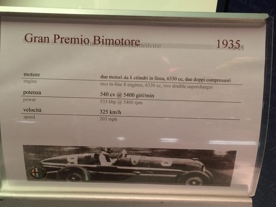 Die Daten des Alfa Romeo 16 C Bimotore