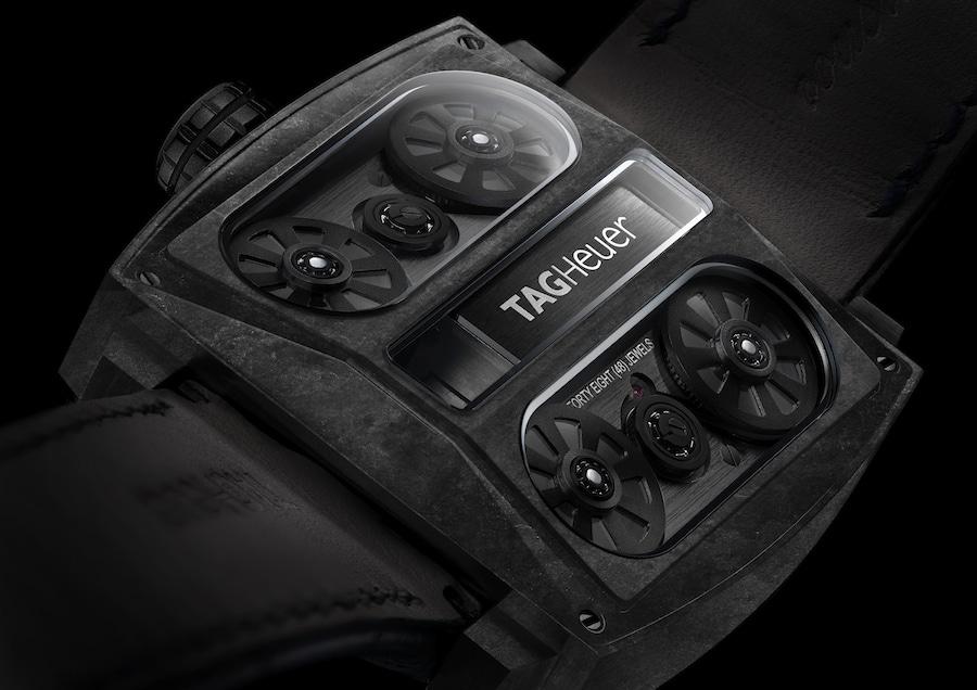 TAG Heuer: Monaco V4 Phantom, Rückseite