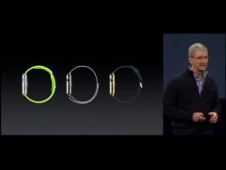 Tim Cook persönlich präsentiert die Details der Apple Watch in San Francisco.