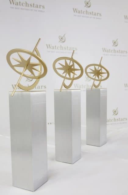 Die Trophäen der Watchstars wurden auf der Baselworld 2017 übergeben.