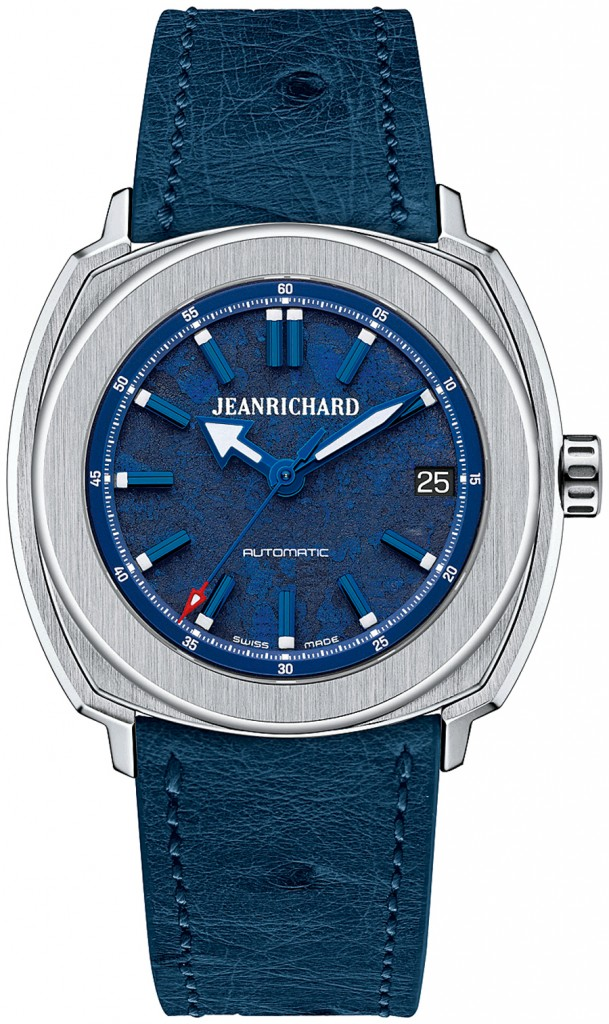 JeanRichard: Terrascope 39 mm in Blau