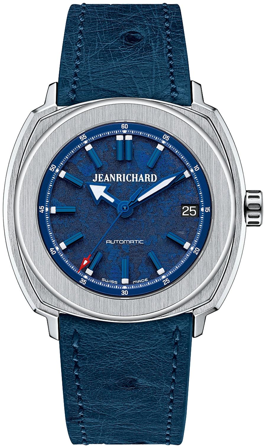 JeanRichard: Terrascope 39 mm in Blau