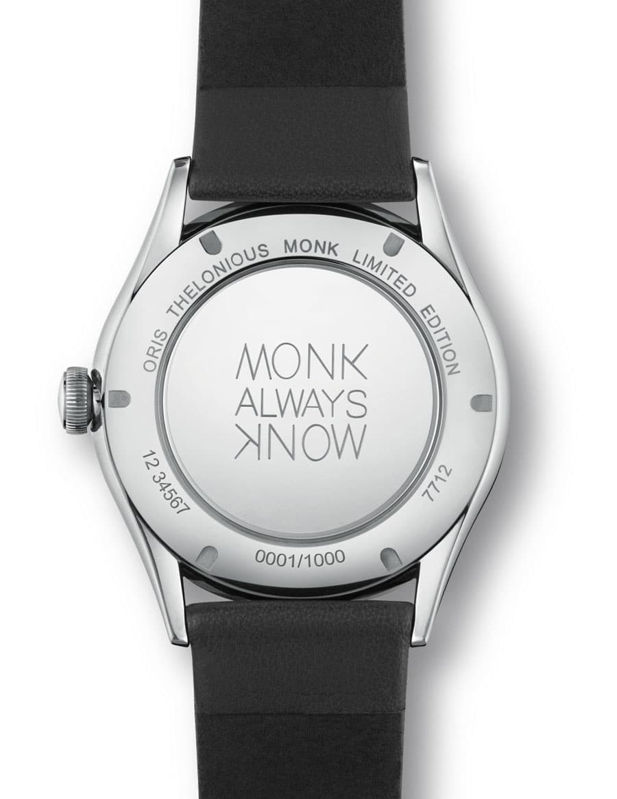 Oris: Thelonious Monk Limited Edition, Bodengravur