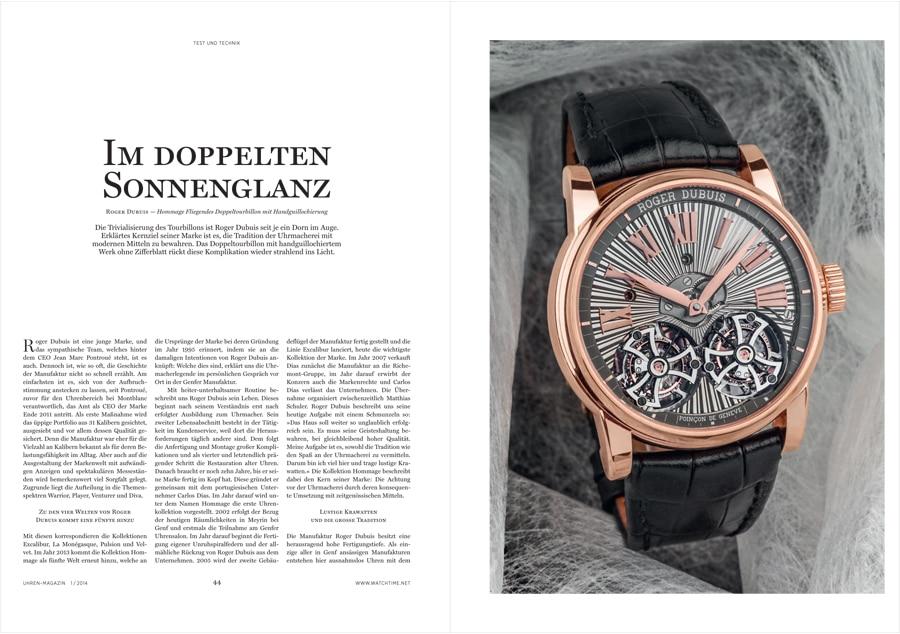 Download: Roger Dubuis Hommage Fliegendes Doppeltourbillon mit Handguillochierung